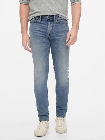 GAP - Soft Wear Slim Taper Jeans WASHED BLACK