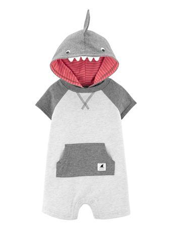 CARTER'S - Hooded Shark Romper NO COLOR