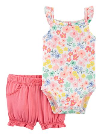 CARTER'S - 2-Piece Floral Bodysuit & Short Set NO COLOR
