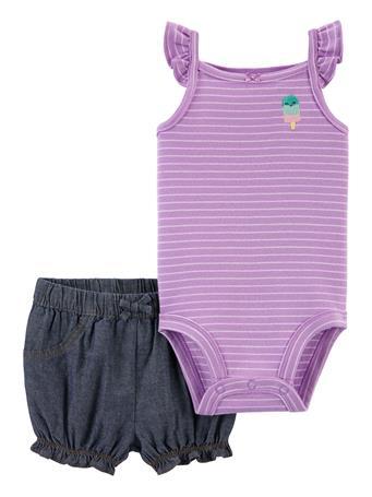 CARTER'S - 2-Piece Popsicle Bodysuit & Short Set NO COLOR