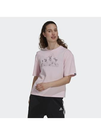 ADIDAS - Soft Floral Logo Graphic Tee PINK