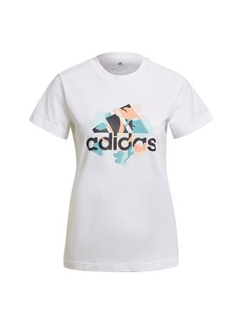 ADIDAS - Floral Graphic T-shirt WHITE
