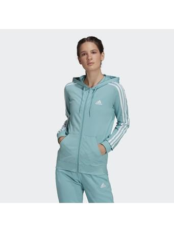 ADIDAS - Essentials Single Jersey 3-Stripes Full-Zip Hoodie MINT