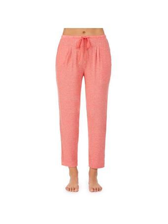 DONNA KARAN - Sunrise Sunset Pajama Crop Pant CORAL