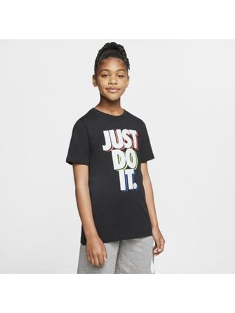 NIKE - Just Do It Kids Tee BLACK