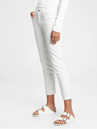 GAP - Mid Rise Girlfriend Jeans WHITE V2 GLOBAL