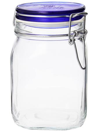 BORMIOLI ROCCO - Fido Square Wire Bail Jars  BLUE