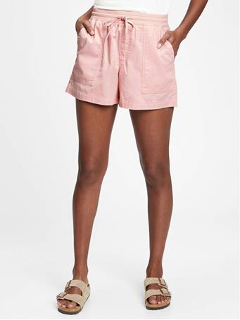 GAP - Ribbed Pull-On Shorts PURE PINK