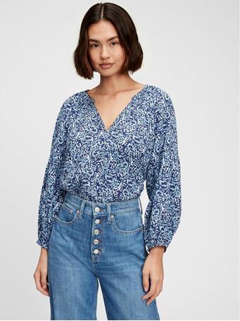 GAP - Easy Popover Shirt BLUE PRINT