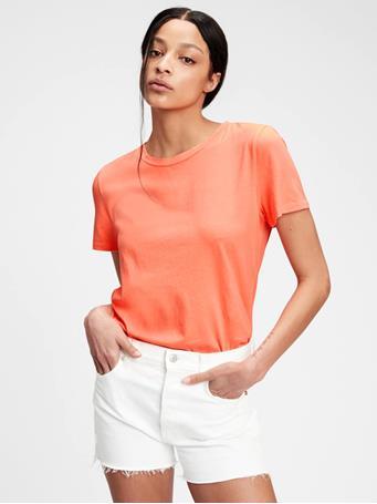 GAP - 100% Organic Cotton Vintage T-Shirt NEON ORANGE BOLT