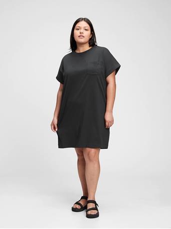 GAP - Pocket T-Shirt Dress TRUE BLACK