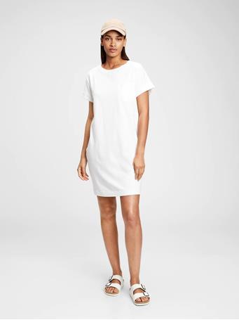 GAP - Pocket T-Shirt Dress OPTIC WHITE 3