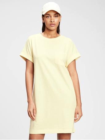 GAP - Pocket T-Shirt Dress NEW HONEYSUCKLE