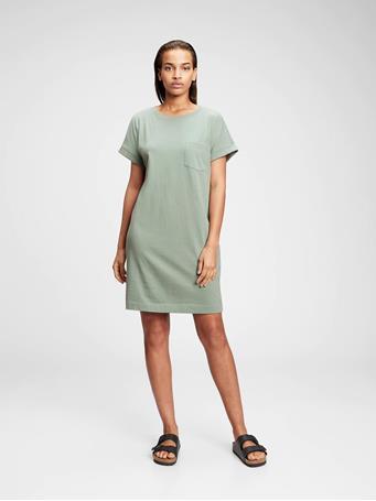 GAP - Pocket T-Shirt Dress SAGE
