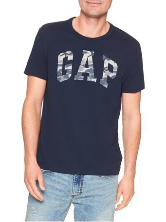 GAP - Camo Arch Logo Tee TAPESTRY NAVY