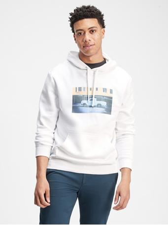 GAP - Graphic Hoodie Sweatshirt WHITE V2 GLOBAL 2
