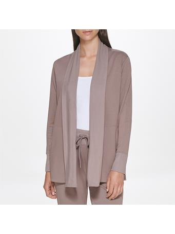 CALVIN KLEIN - Drape Front French Terry Cardigan COC