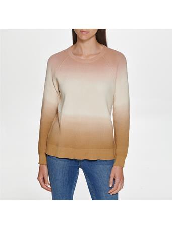 CALVIN KLEIN - Tri Colour Sweater BLUSH/SOFT WHT/BISQUE