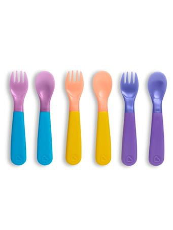 MUNCHKIN - Colorreveal Color Changing Toddler Forks & Spoons NO COLOR