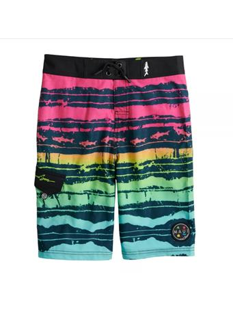 MAUI AND SONS - Striped Board Shorts (4-7) PRINT