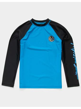 MAUI AND SONS - Long Sleeve Colorblock Rash Guard Top BRILLIANT BLUE