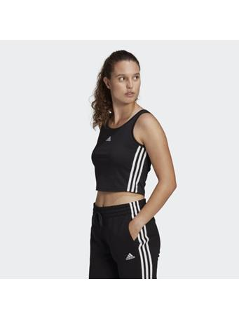 ADIDAS - Essentials Cropped Tank Top BLK/WHT
