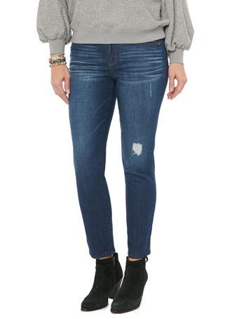 "DEMOCRACY - ""Ab""solution High Rise Distressed Blue Denim Skinny Jeans BLUE VINTAGE"