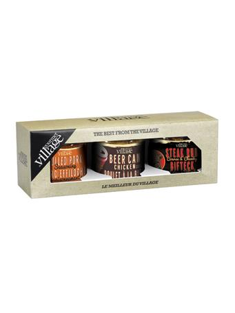 GOURMET DU VILLAGE - 3 Seasonings In Natural Kraft Gift Box NO COLOR