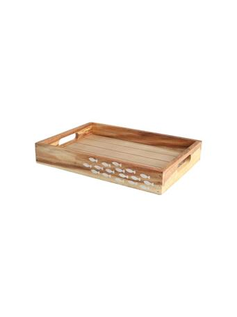 T&G - Ocean Crate with Fish Detail BROWN