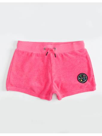 MAUI AND SONS  - Pull On Terry Short (7-16) KNOCKOUT PINK