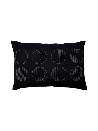Decorative Pillow Moon Phases BLACK