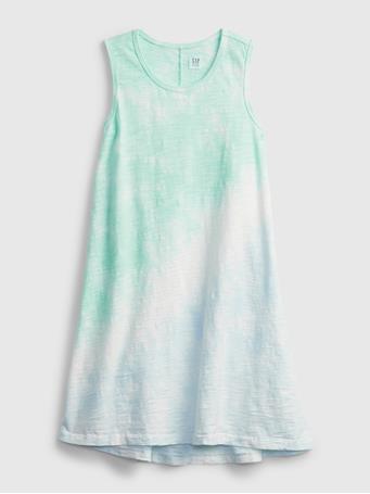GAP - Kids Tie-Dye Trapeze Dress BLUE TIE DYE
