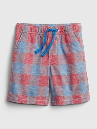 GAP - Toddler Linen Shorts with Washwell TILE BLUE 392