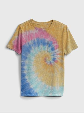 GAP - Kids Pocket T-Shirt MULTI TIE DYE