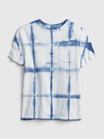 GAP - Kids Pocket T-Shirt BLUE DIP DYE