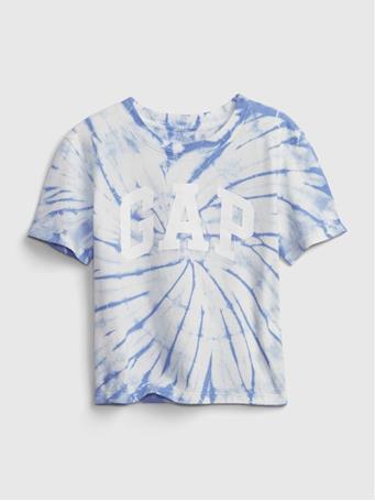 GAP - Kids 100% Organic Cotton Gap Logo T-Shirt BLUE TIE DYE