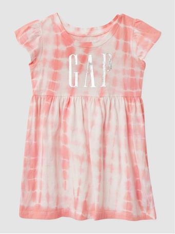 GAP - Toddler Logo Dress PINK TIE DYE