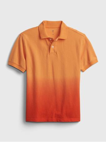 GAP - Kids Dip-Dye Polo Shirt ORANGE SUN 887