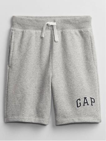 GAP - Kids Logo Pull-On Shorts LIGHT GREY HEATHER