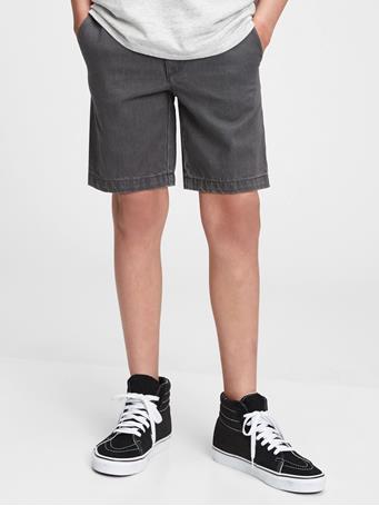 GAP - Kids Pull-On Denim Shorts with Washwell GREY WASH