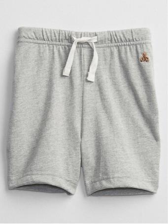 GAP - Baby Brannan Bear Pull-On Shorts LIGHT HEATHER GREY B08
