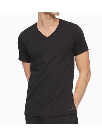 CALVIN KLEIN - Cotton Classic V-Neck T-Shirt - 3 Pack BLACK