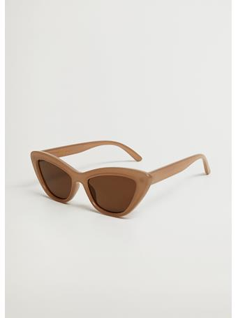 MANGO - Cat-eye Sunglasses NATURAL WHITE