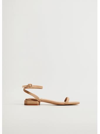 MANGO - Ankle-cuff Sandals LIGHT BEIGE