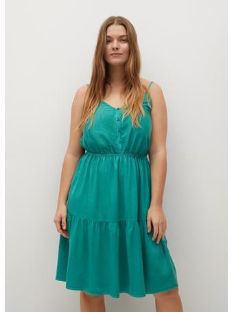 VIOLETA - Lyocell 100% Dress MEDIUM GREEN