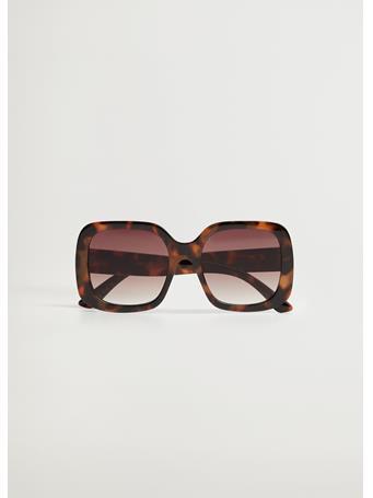 MANGO - Tortoiseshell Oversize Sunglasses DARK BROWN