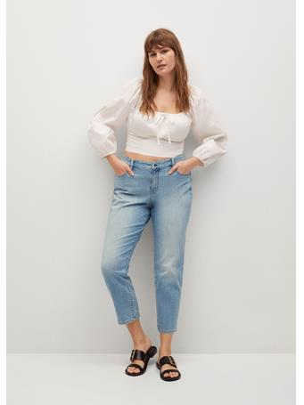 VIOLETA BY MANGO - Relaxed Claudia Jeans LT-PASTEL BLUE