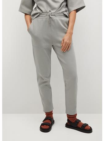 MANGO - Cotton Organic Jogging Trousers LT PASTEL GREY