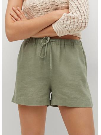 MANGO - 100% Linen Shorts KHAKI