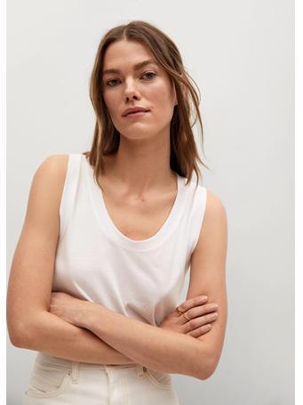 MANGO - Cotton Organic Top WHITE